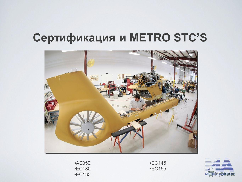 Сертификация и METRO STCS AS350 EC130 EC135 EC145 EC155