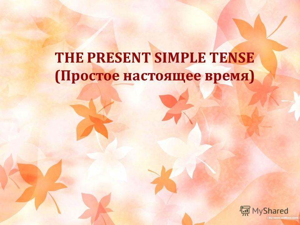 THE PRESENT SIMPLE TENSE (Простое настоящее время)