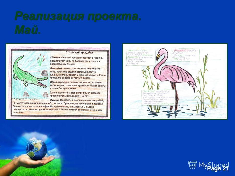 Free Powerpoint Templates Page 21 Реализация проекта. Май.