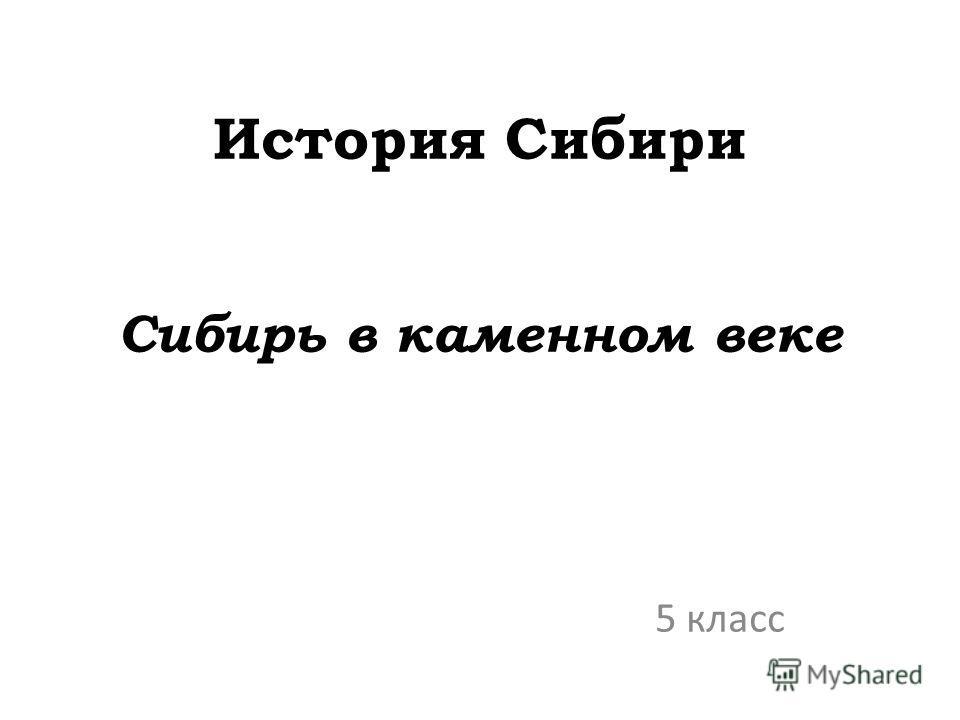 История Сибири Сибирь в каменном веке 5 класс