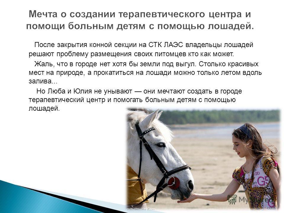 После закрытия конной секции на СТК ЛАЭС владельцы лошадей решают проблему размещения своих питомцев кто как может. Жаль, что в городе нет хотя бы земли под выгул. Столько красивых мест на природе, а прокатиться на лошади можно только летом вдоль зал