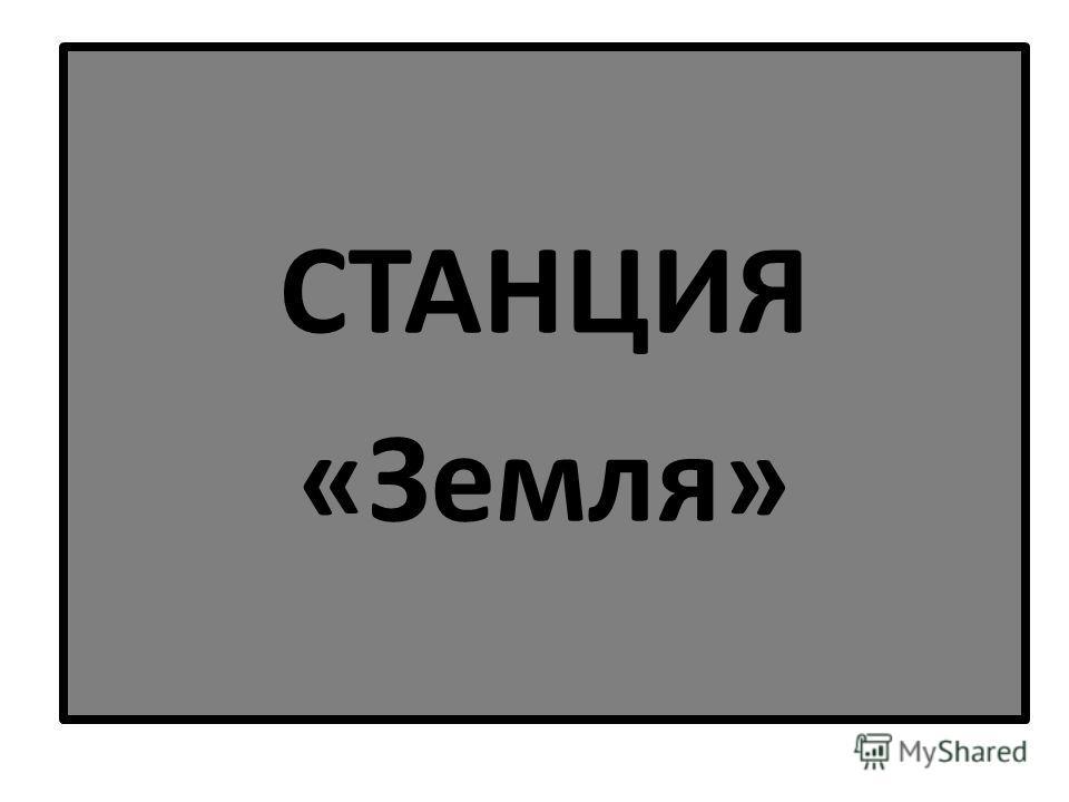 СТАНЦИЯ «Земля»