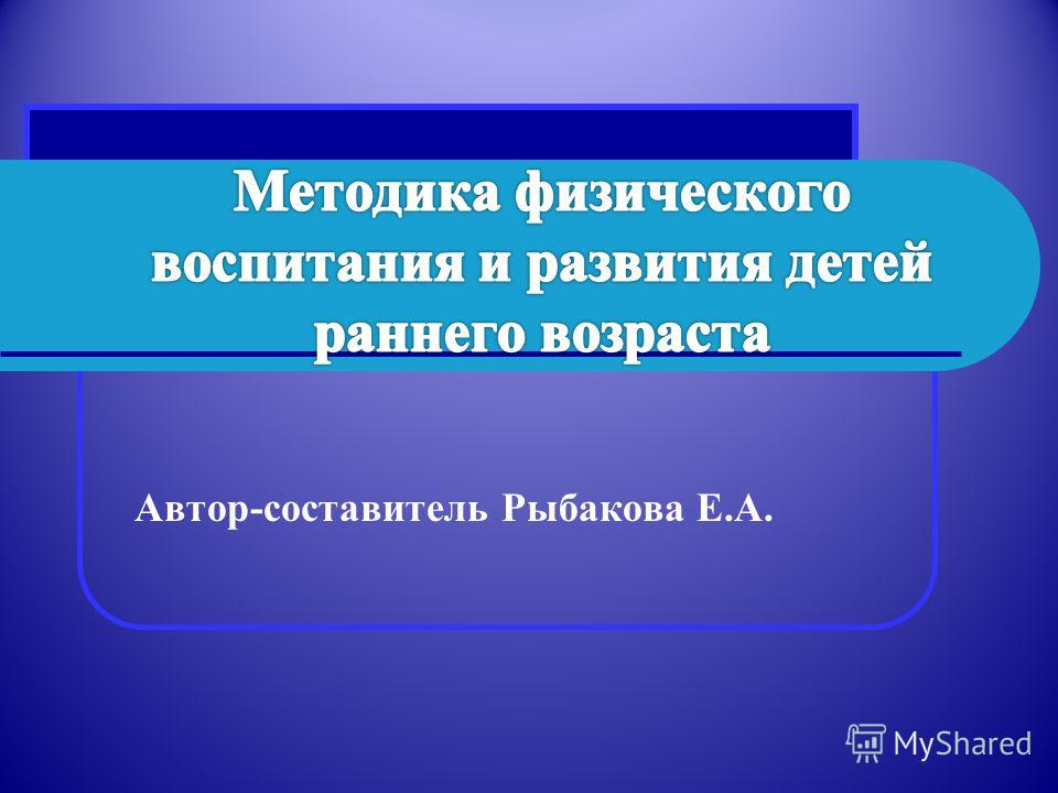 Автор-составитель Рыбакова Е.А.