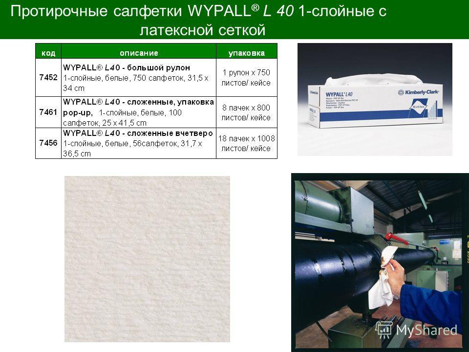 Customer Solution Протирочные салфетки WYPALL ® L 40 1-слойные с латексной сеткой