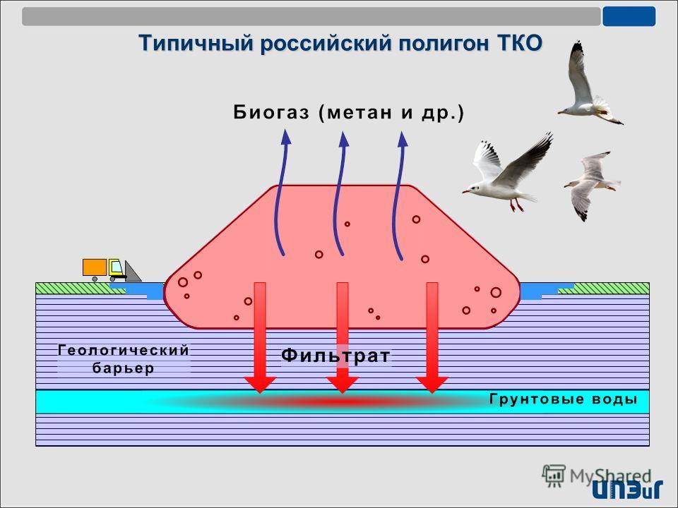 Типичный российский полигон ТКО
