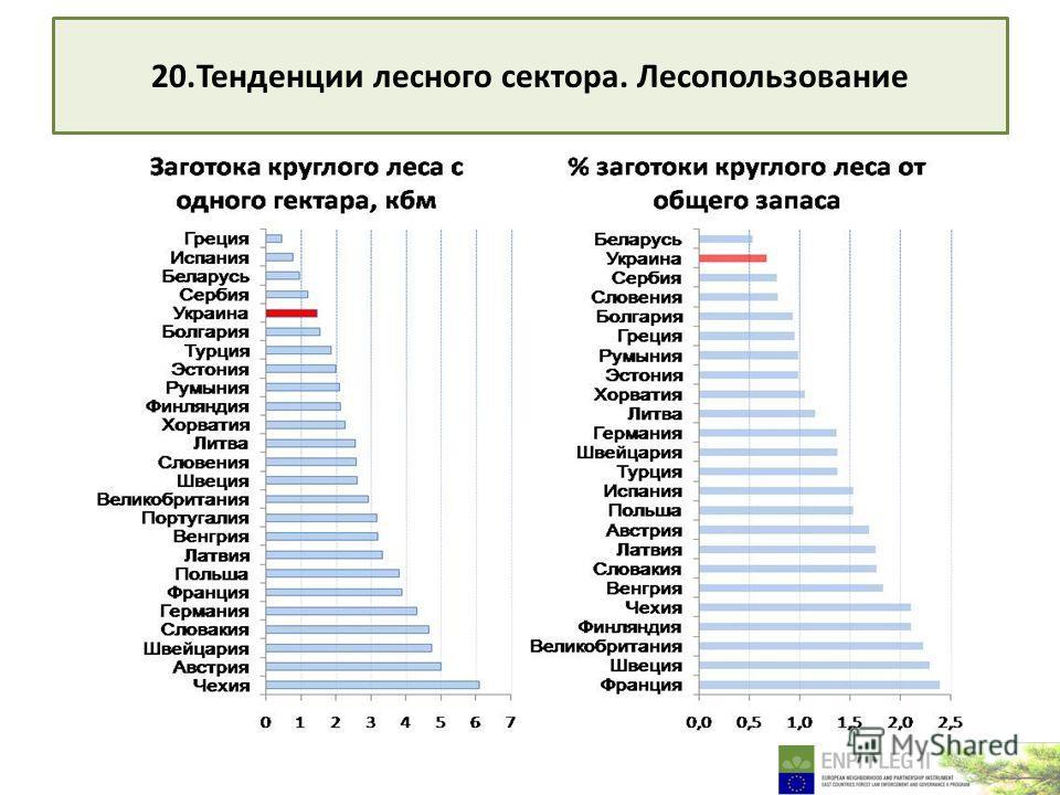 20. Тенденции лесного сектора. Лесопользование