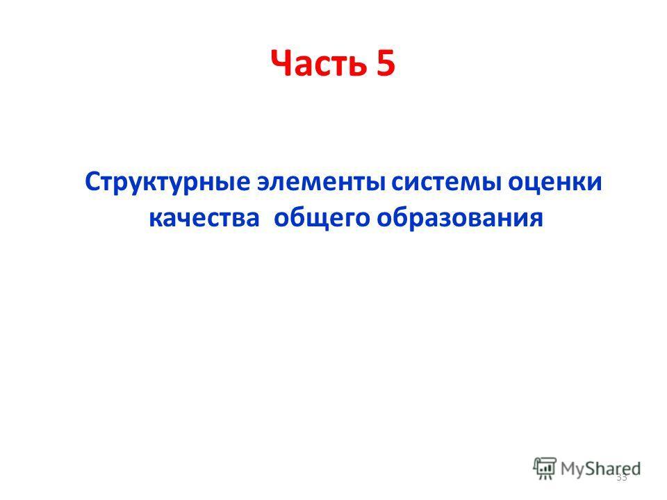 Часть 5 Структурные элементы системы оценки качества общего образования 33