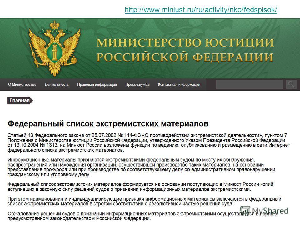 http://www.miniust.ru/ru/activity/nko/fedspisok/