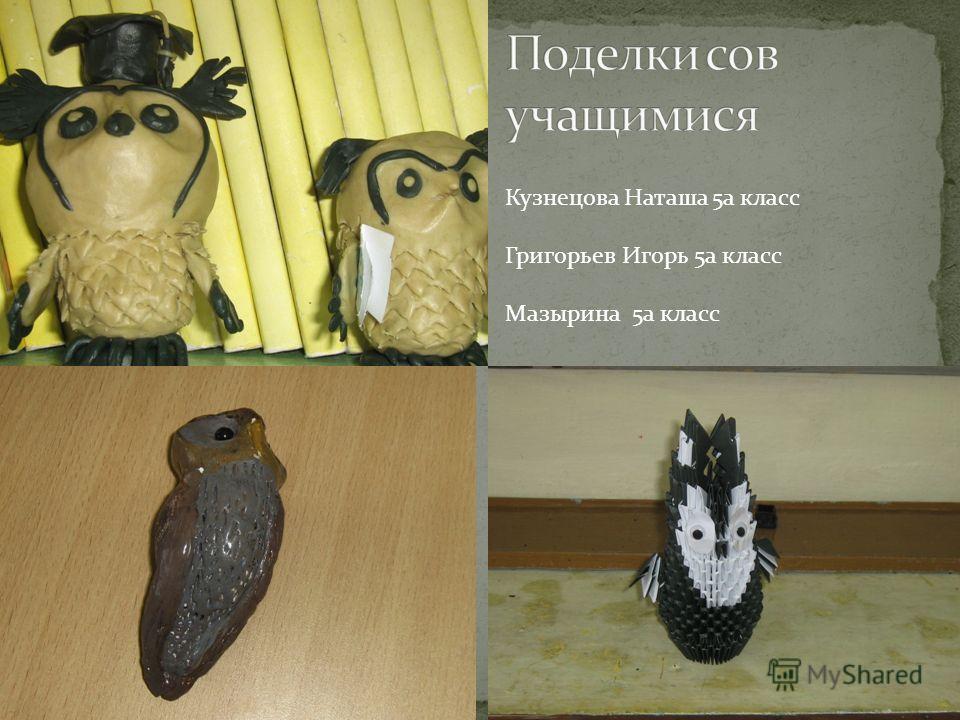 Кузнецова Наташа 5 а класс Григорьев Игорь 5 а класс Мазырина 5 а класс