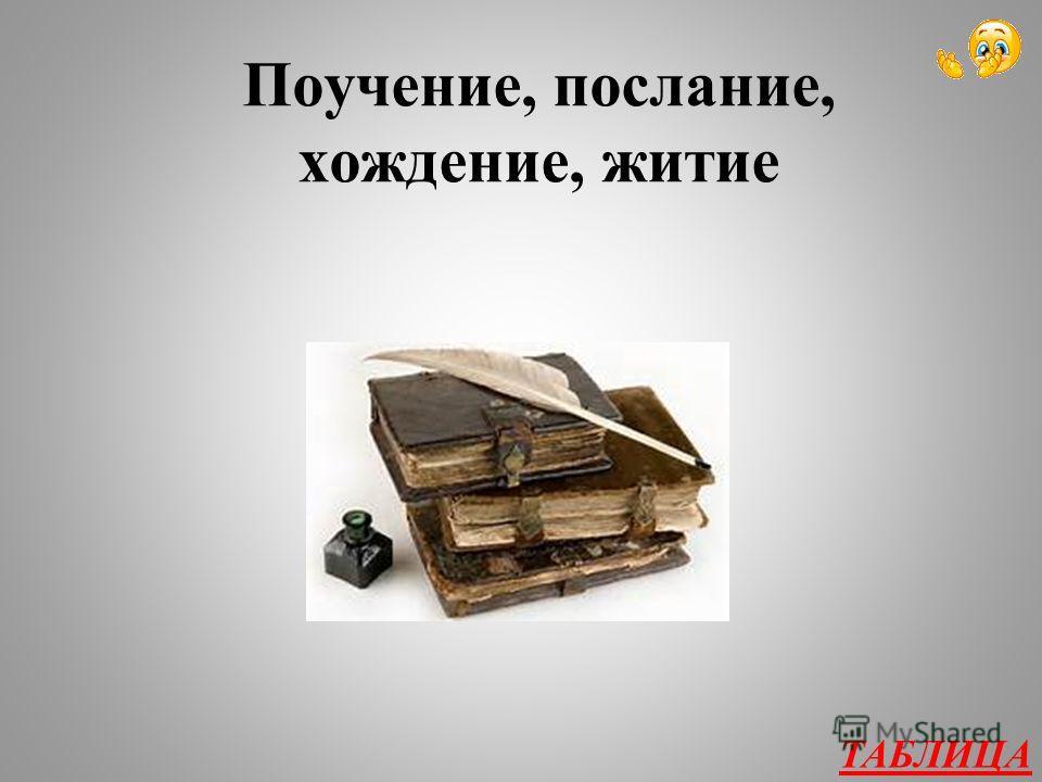 Из древнерусской литературы 400 Назовите 4 жанра древнерусской литературы