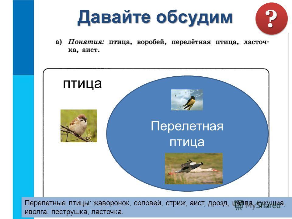 Давайте обсудим птица Перелетные птицы: жаворонок, соловей, стриж, аист, дрозд, цапля, кукушка, иволга, пеструшка, ласточка. Перелетная птица ?? Со́лнечная систе́ма планетная система, включающая в себя центральную звезду Солнце и все естественные кос