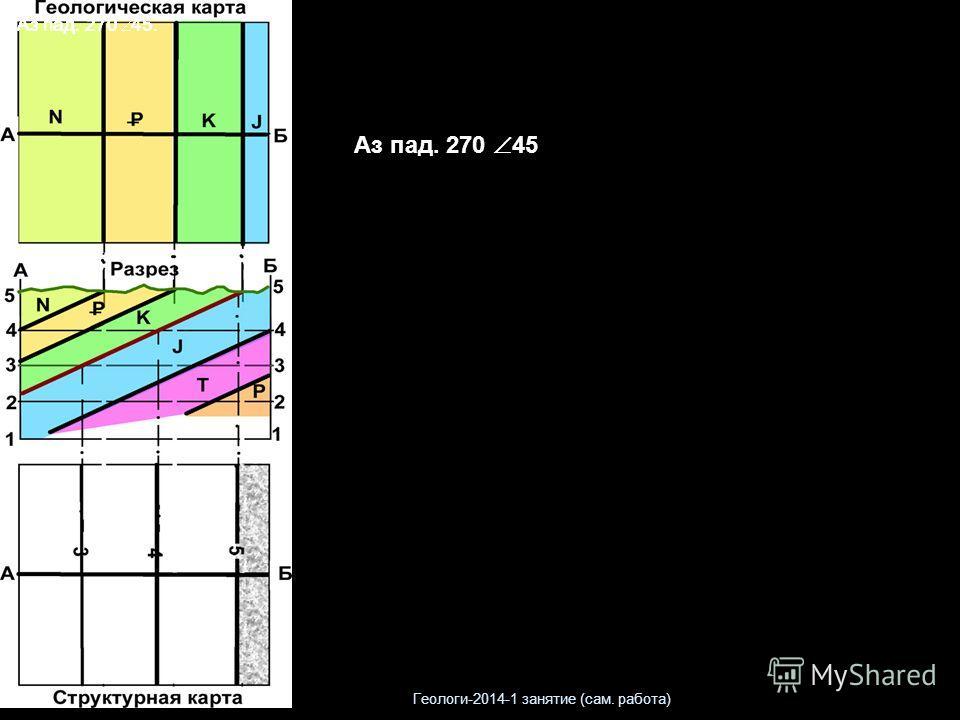 Аз пад. 270 45. Аз пад. 270 45 Геологи-2014-1 занятие (сам. работа)