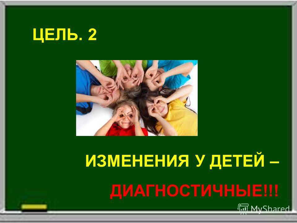 ЦЕЛЬ. 2 ИЗМЕНЕНИЯ У ДЕТЕЙ – ДИАГНОСТИЧНЫЕ!!!