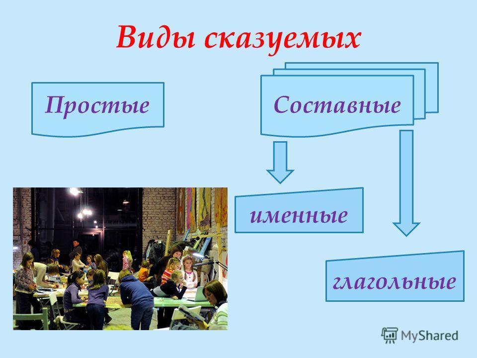 Виды сказуемых Простые Составные именные глагольные