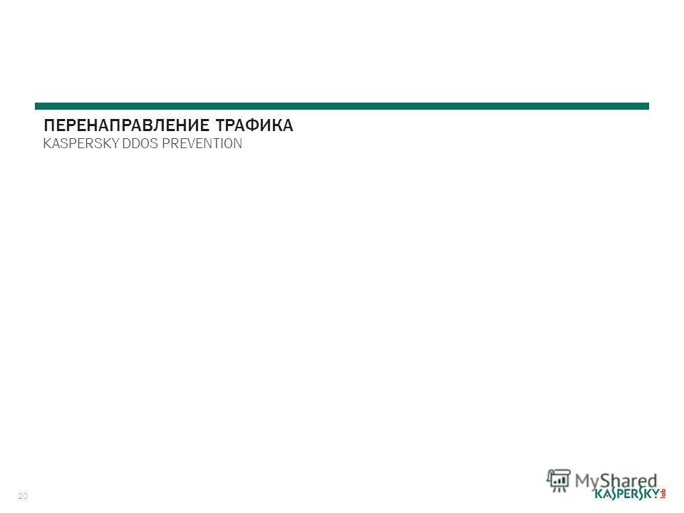 20 ПЕРЕНАПРАВЛЕНИЕ ТРАФИКА KASPERSKY DDOS PREVENTION
