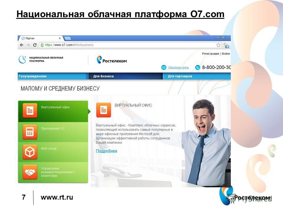 www.rt.ru Национальная облачная платформа О7. com 7