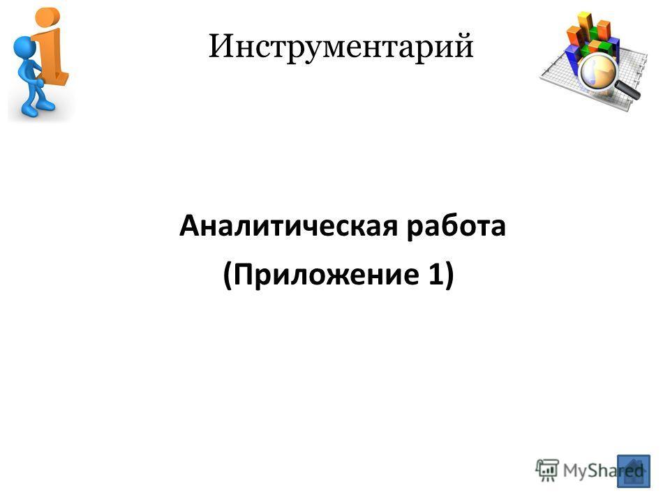 Инструментарий Аналитическая работа (Приложение 1)