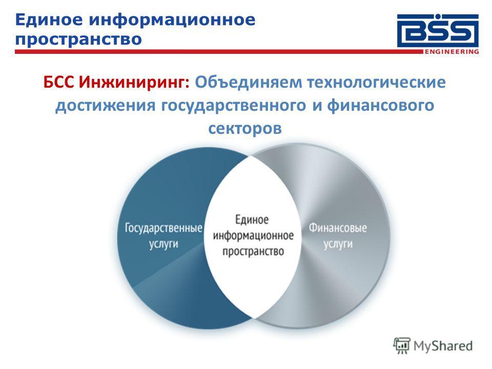 Единое информационное пространство БСС Инжиниринг: Объединяем технологические достижения государственного и финансового секторов