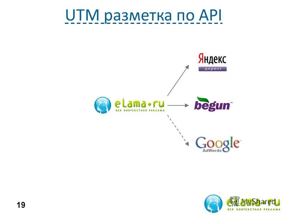UTM разметка по API 19