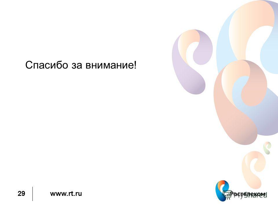 www.rt.ru 29 Спасибо за внимание!