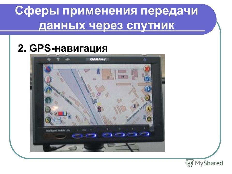 Сферы применения передачи данных через спутник 2. GPS-навигация