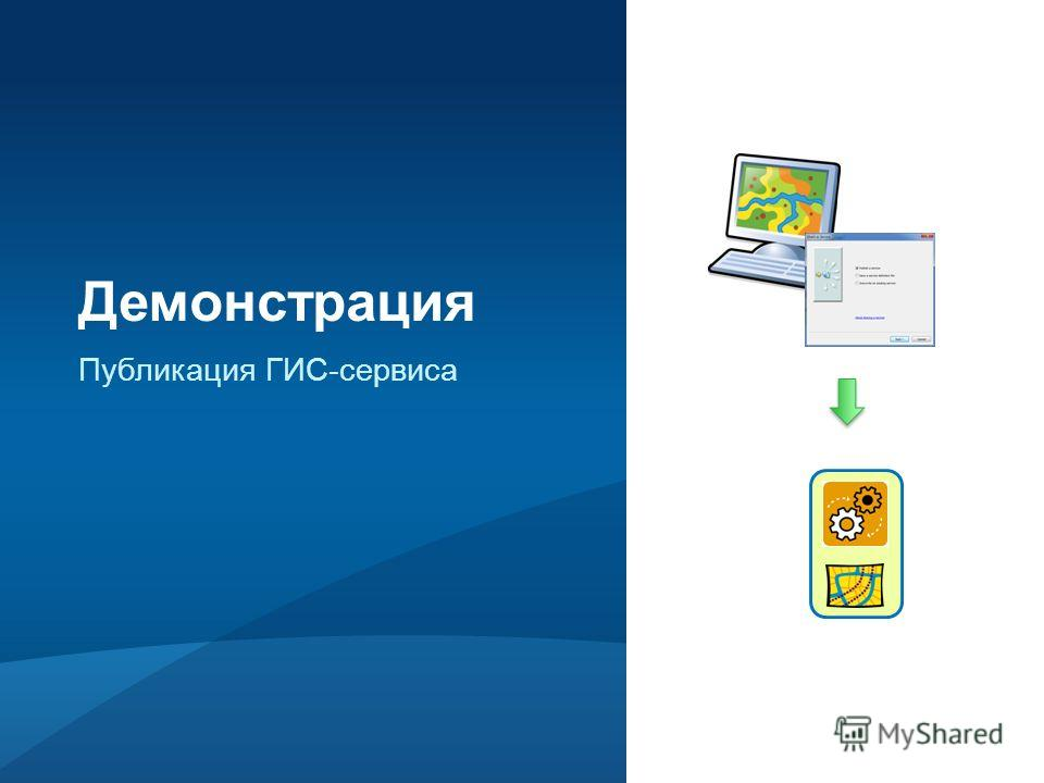 Публикация ГИС-сервиса Демонстрация