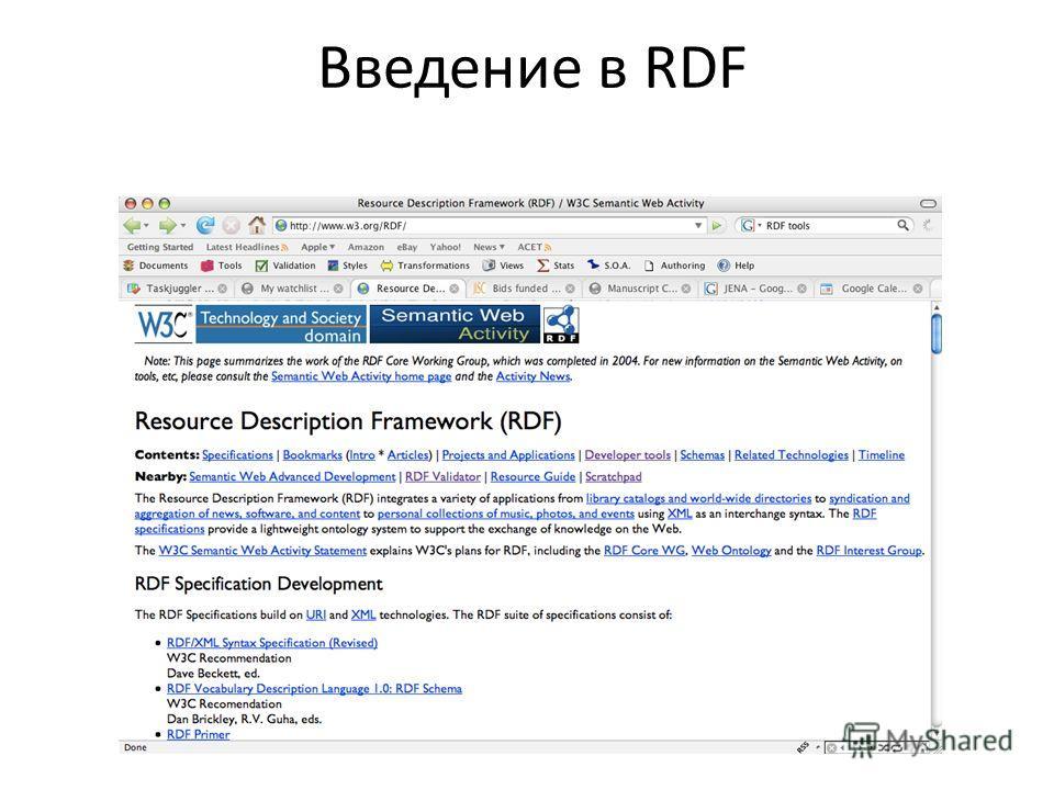 Введение в RDF