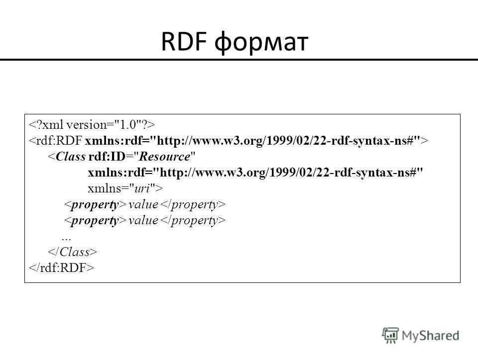 RDF формат  value...
