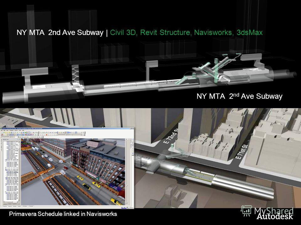 NY MTA 2 nd Ave Subway Primavera Schedule linked in Navisworks NY MTA 2nd Ave Subway | Civil 3D, Revit Structure, Navisworks, 3dsMax