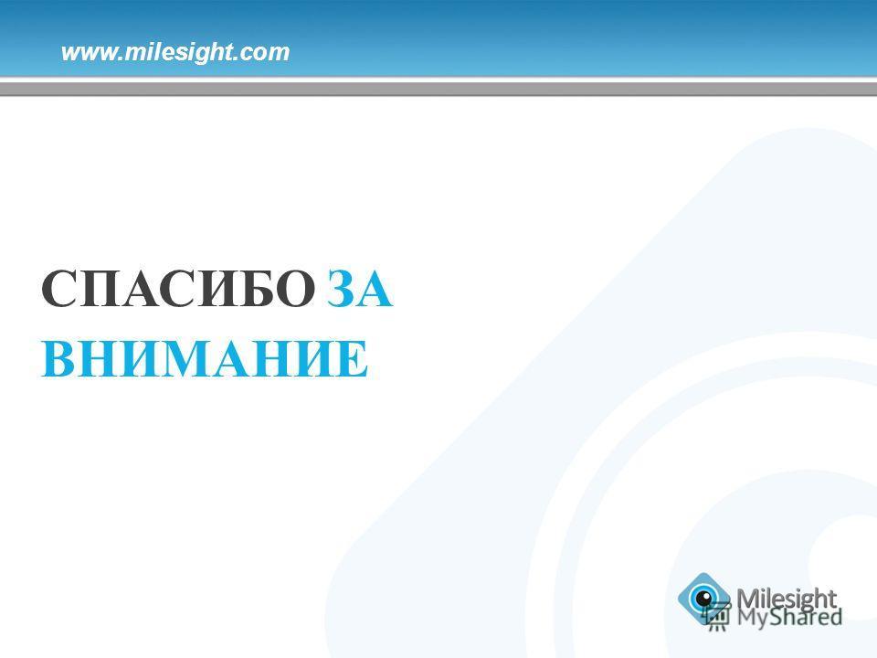 www.milesight.com СПАСИБО ЗА ВНИМАНИЕ