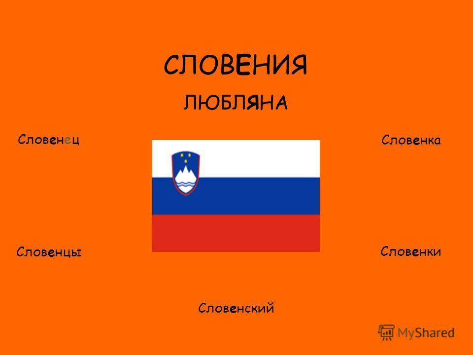 ФЛАГ СЛОВЕНИЯ ЛЮБЛЯНА Словенец Словенцы Словенка Словенки Словенский