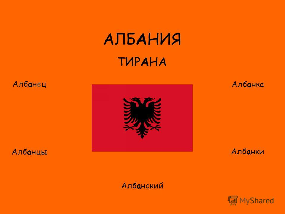 ФЛАГ АЛБАНИЯ ТИРАНА Албанец Албанцы Албанка Албанки Албанский