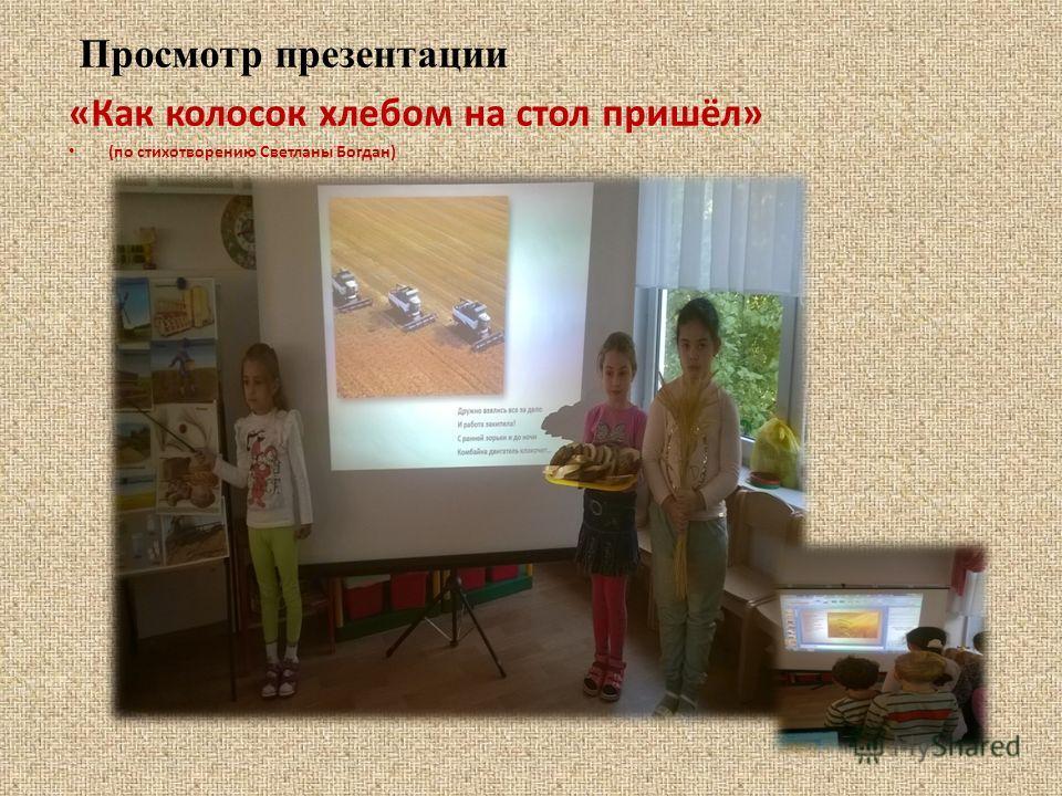 Просмотр презентации «Как колосок хлебом на стол пришёл» (по стихотворению Светланы Богдан)