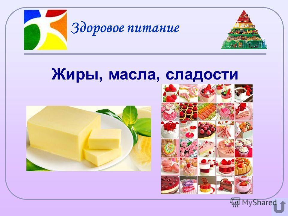 Здоровое питание Жиры, масла, сладости