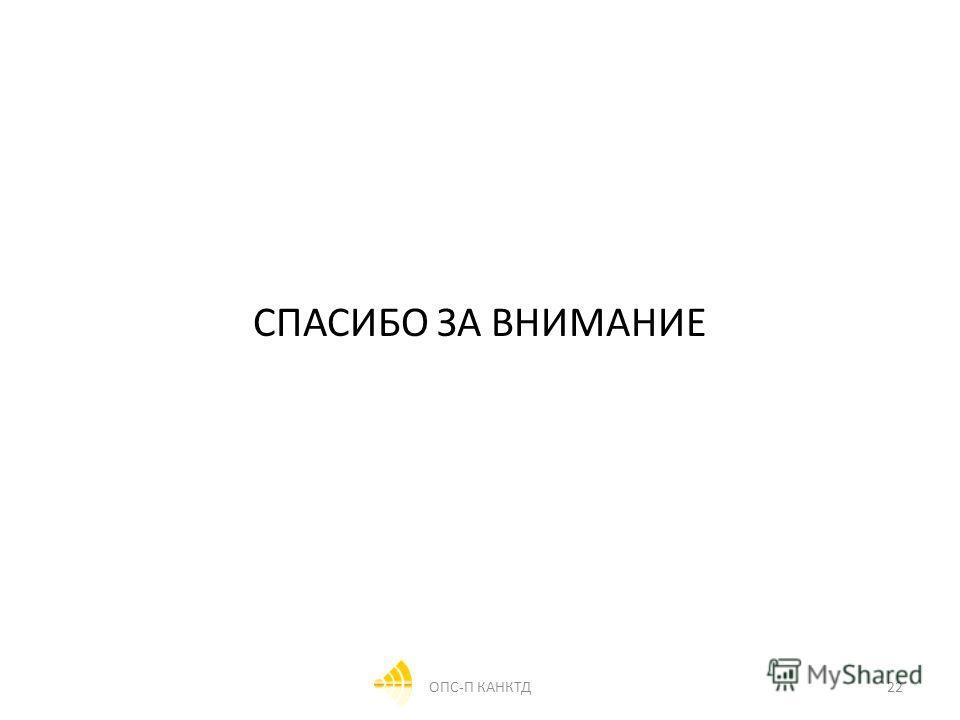 СПАСИБО ЗА ВНИМАНИЕ 22ОПС-П КАНКТД