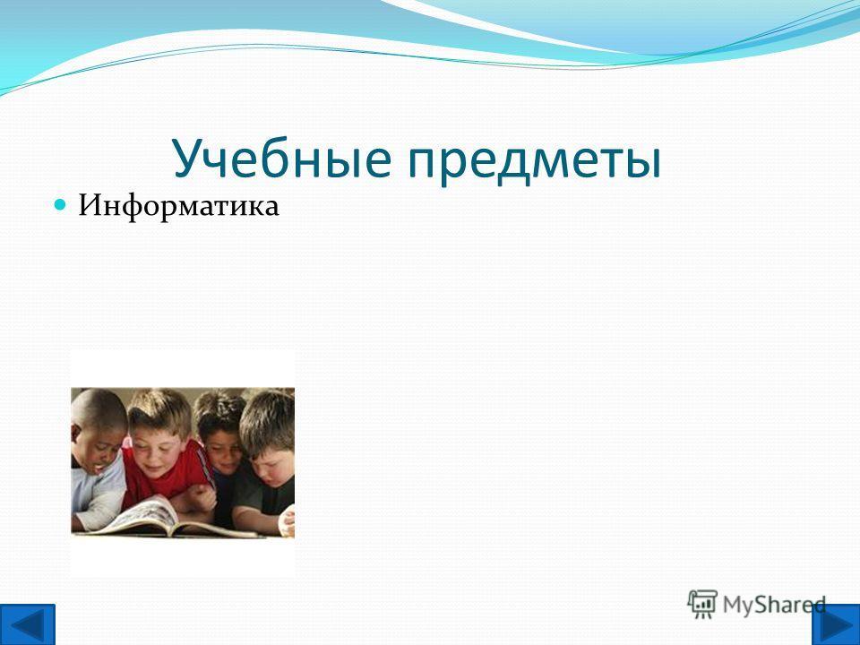 Учебные предметы Информатика
