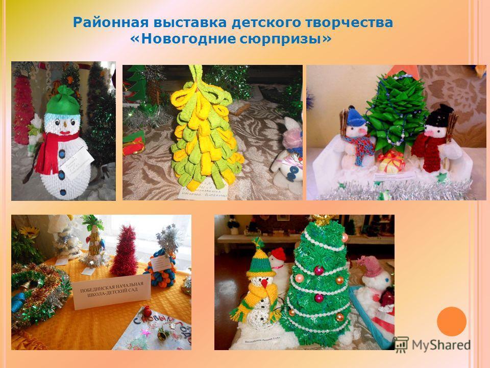 Районная выставка детского творчества «Новогодние сюрпризы»