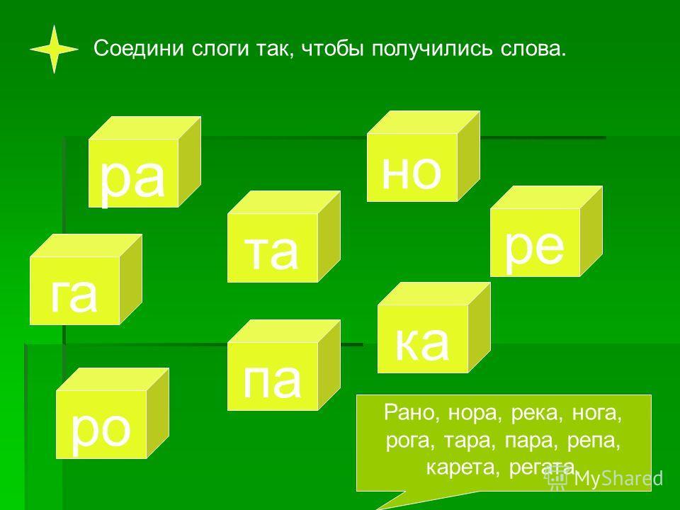 Сколько слогов в каждом слове? Соедини картинки с нужной цифрой