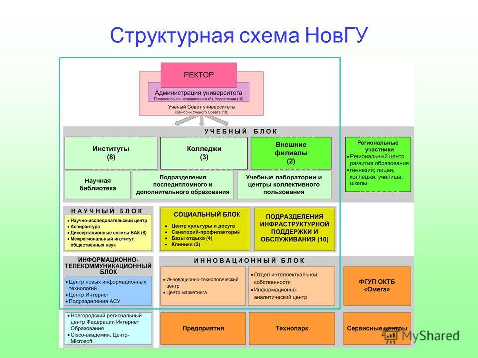 Структурная схема НовГУ