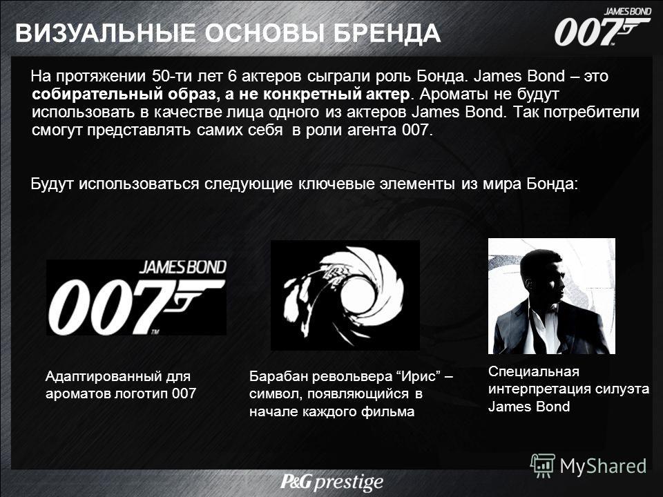 На протяжении 50-ти лет 6 актеров сыграли роль Бонда. James Bond – это собирательный образ, а не конкретный актер. Ароматы не будут использовать в качестве лица одного из актеров James Bond. Так потребители смогут представлять самих себя в роли агент