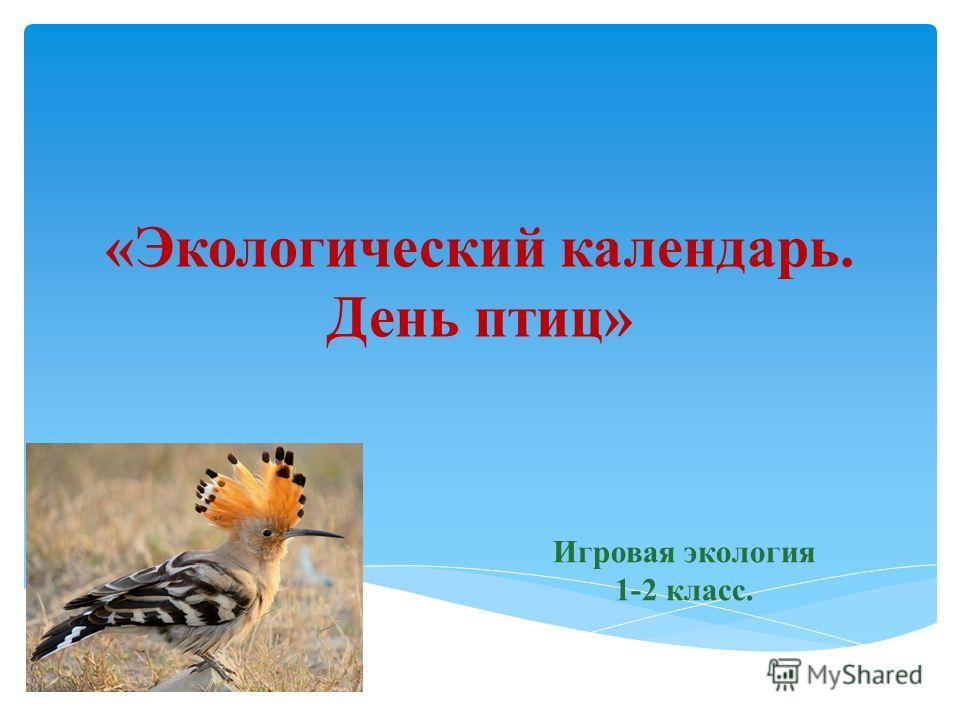 «Экологический календарь. День птиц» Игровая экология 1-2 класс.
