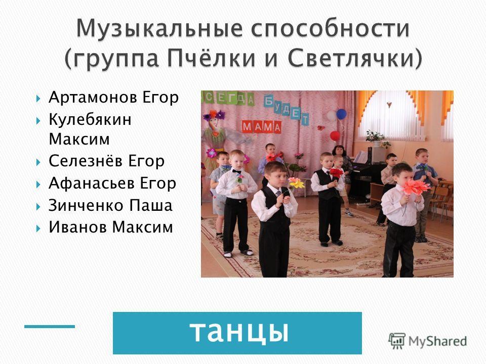 танцы Артамонов Егор Кулебякин Максим Селезнёв Егор Афанасьев Егор Зинченко Паша Иванов Максим