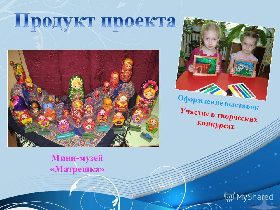 Мини-музей «Матрешка» Оформление выставок Участие в творческих конкурсах