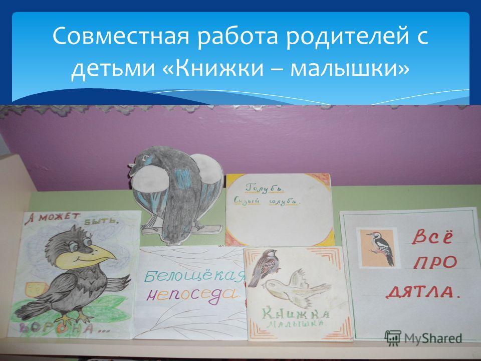 Совместная работа родителей с детьми «Книжки – малышки»
