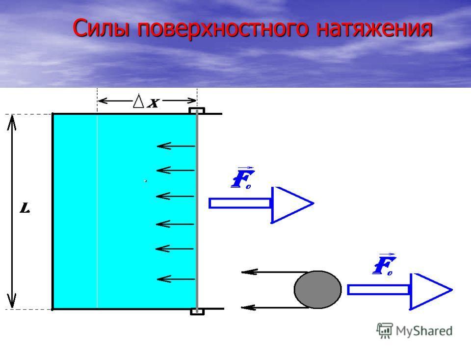. Силы поверхностного натяжения