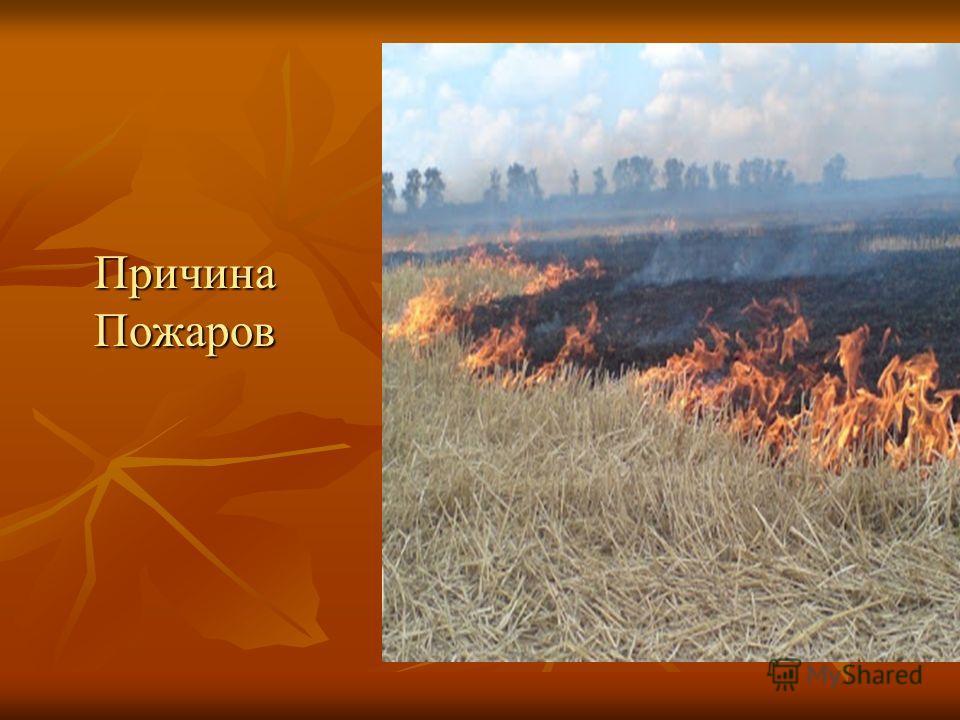 Причина Пожаров Причина Пожаров