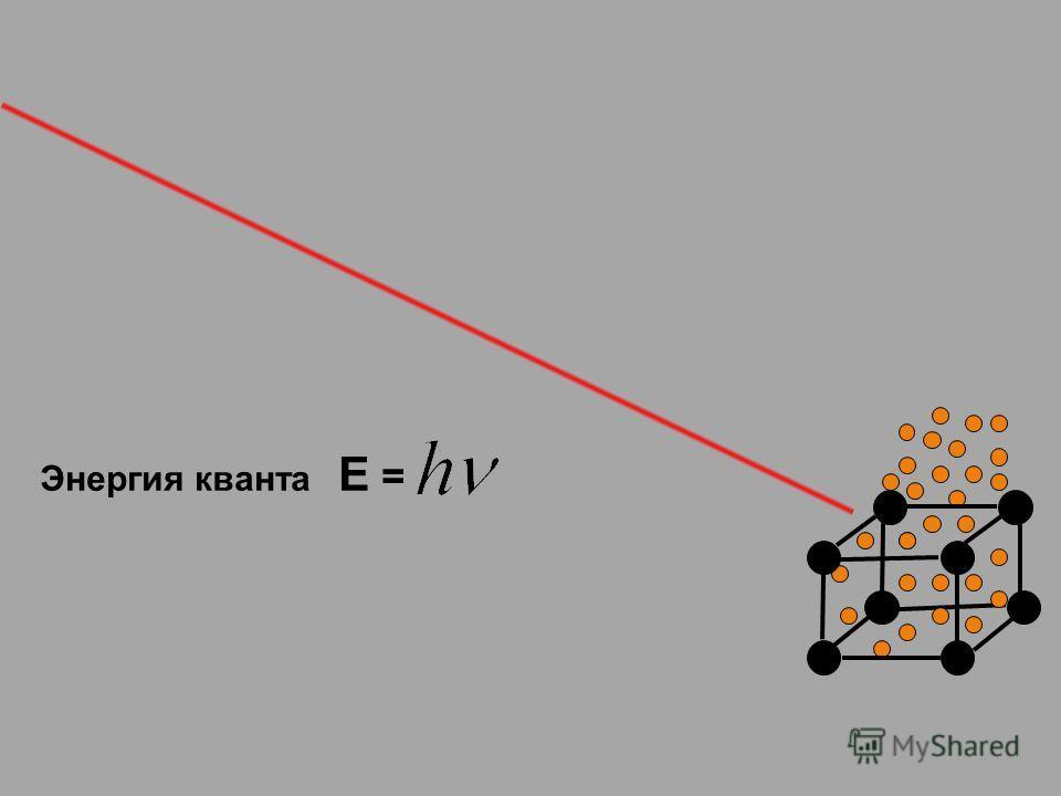 Энергия кванта Е =