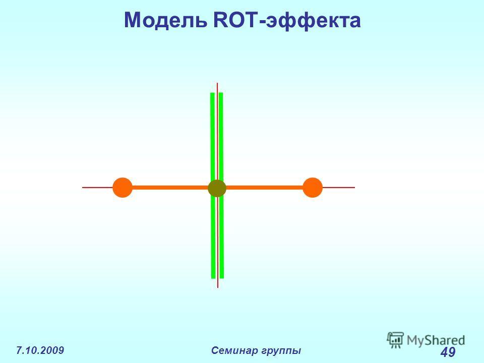 7.10.2009Семинар группы 49 Модель ROT-эффекта