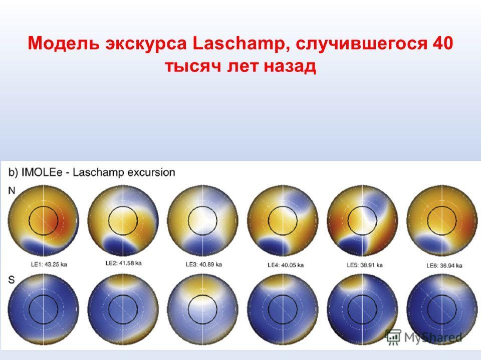 Модель экскурса Laschamp, случившегося 40 тысяч лет назад