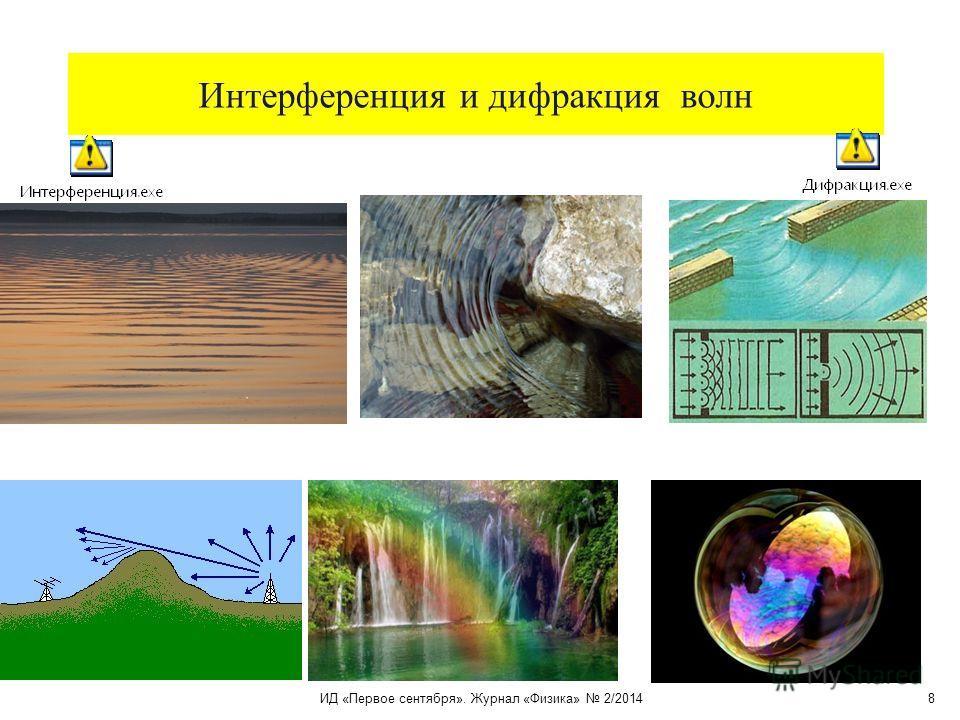 Интерференция и дифракция волн ИД «Первое сентября». Журнал «Физика» 2/2014 8